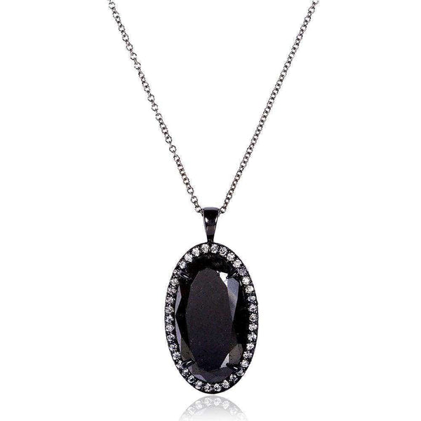 Kobelli Black and White Diamond Oval Pendant 12ct.tw 14k Black Gold (Certified) 14115OVX-1167
