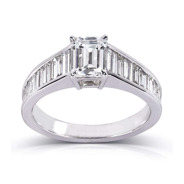 Kobelli Emerald-cut Diamond Engagement Ring 2 1/5 Carat (ctw) In 14k White Gold (Certified)