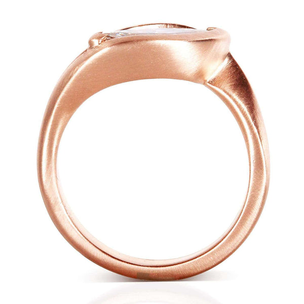 Kobelli Marquise Cut Bezel Diamond Ring 1 Carat in 14k Rose Gold (Certified FG/VS)