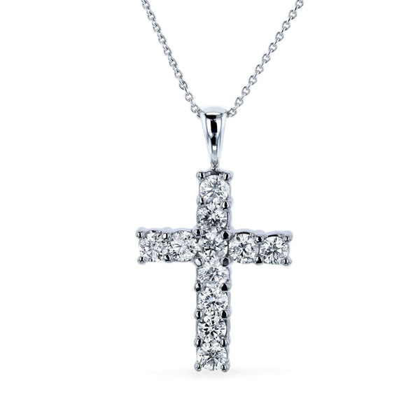Kobelli 1-1/5ct.tw Diamond Cross Pendant Necklace 14k Gold 1493/W