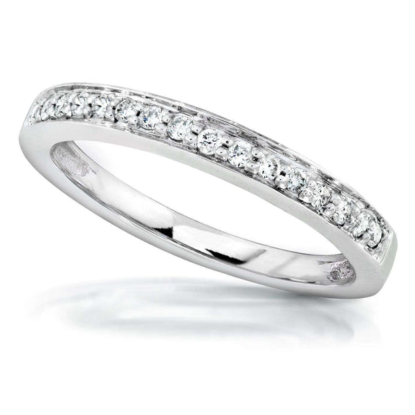 Kobelli Diamond Wedding Band 1/6 carat (ctw) in 14K White Gold