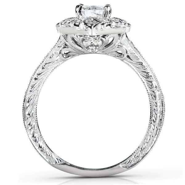 Kobelli Antique Diamond Engagement Ring 1/2 carat (ctw) in 14k White Gold