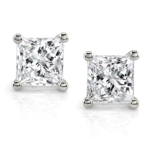 Kobelli Diamond Stud Earrings 1 Carat (ctw) in Platinum (Certified) 3667PLAT-100DM
