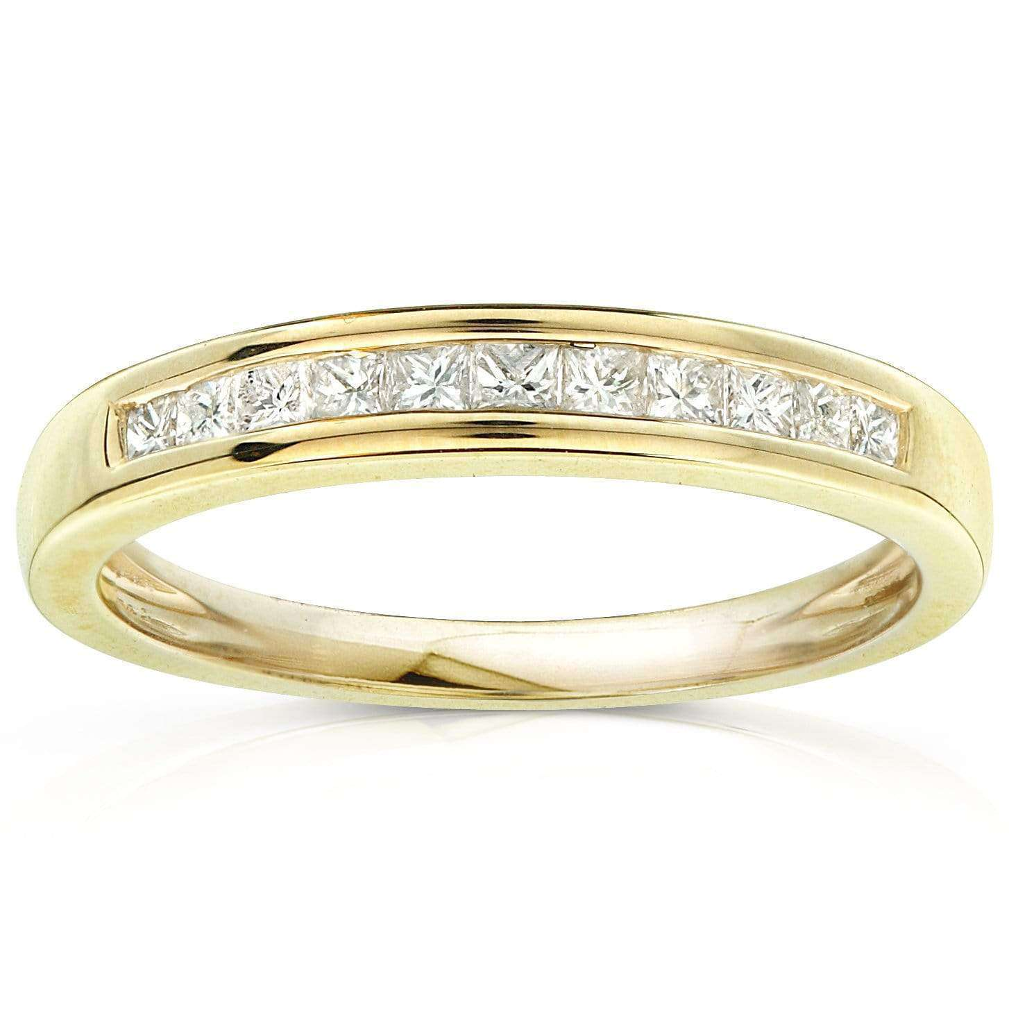 Best Diamond Band 1/4 carat (ctw) in 14kt Yellow Gold - 10.5