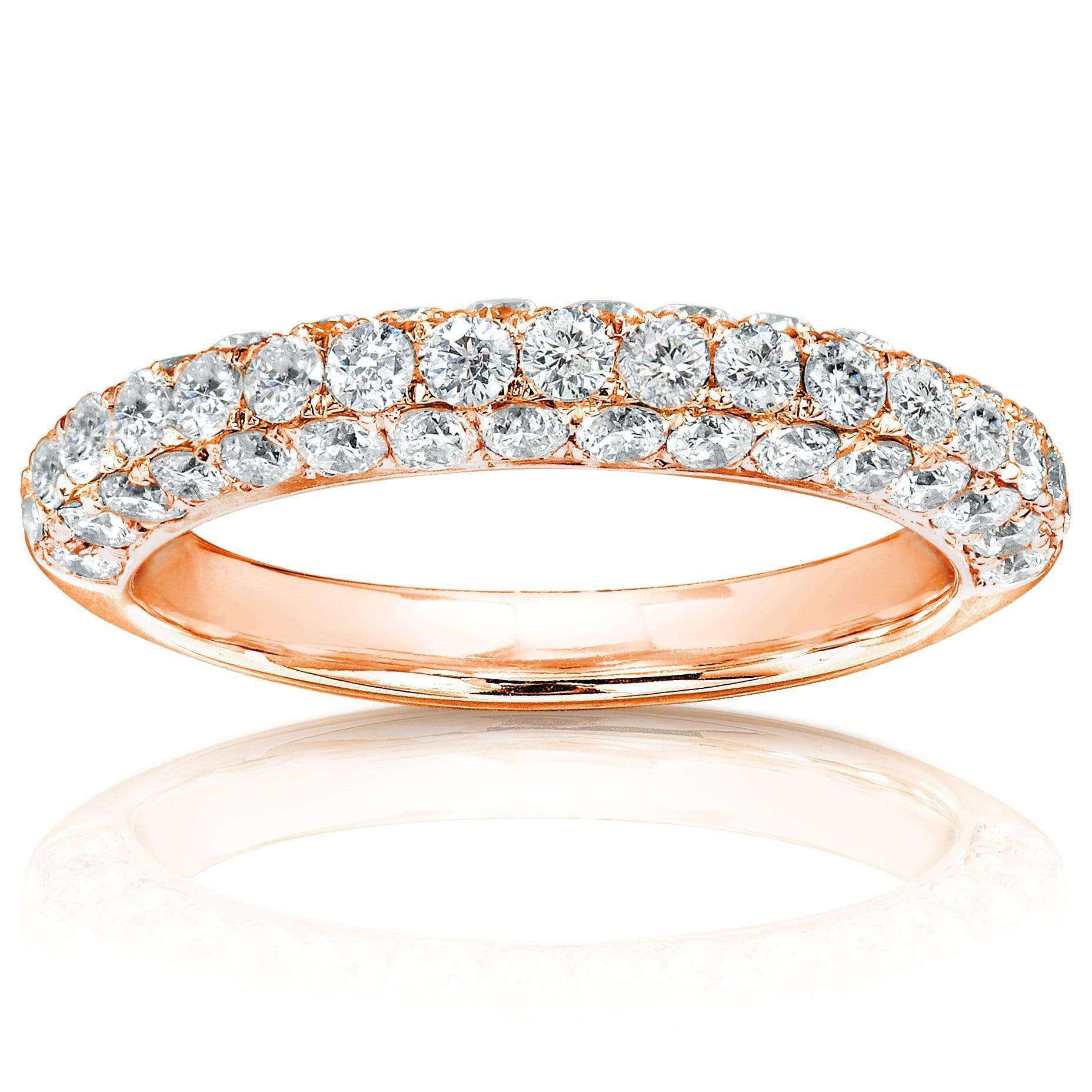 Discounts Diamond Wedding Band 1 CTW in 14K Rose Gold - 4