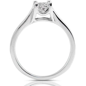 Kobelli Princess Diamond Solitaire Ring and Channel Band Bridal Set 7/8ct.tw 14k White Gold