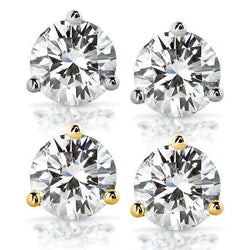 Kobelli Diamond Stud Earrings 1 Carat (ctw) in 14K White or Yellow Gold