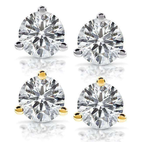 Kobelli Diamond Stud Earrings 3/4 Carat (ctw) in 14K White or Yellow Gold