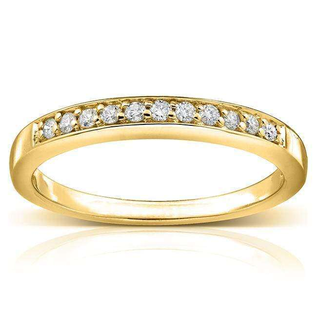 Kobelli Round-cut Diamond Band 1/10 Carat (ctw) in 14k Gold 61024-BAND/4.5Y