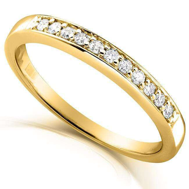 Kobelli Round-cut Diamond Band 1/10 Carat (ctw) in 14k Gold