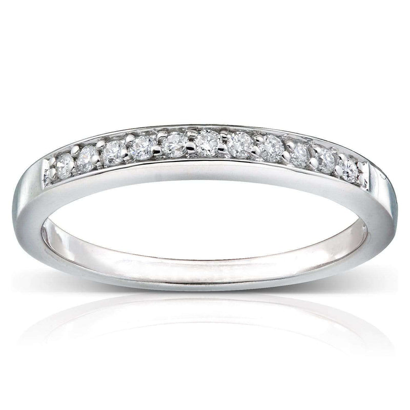 Kobelli Round-cut Diamond Band 1/10 Carat (ctw) in 14k Gold 61024-BAND_4.5