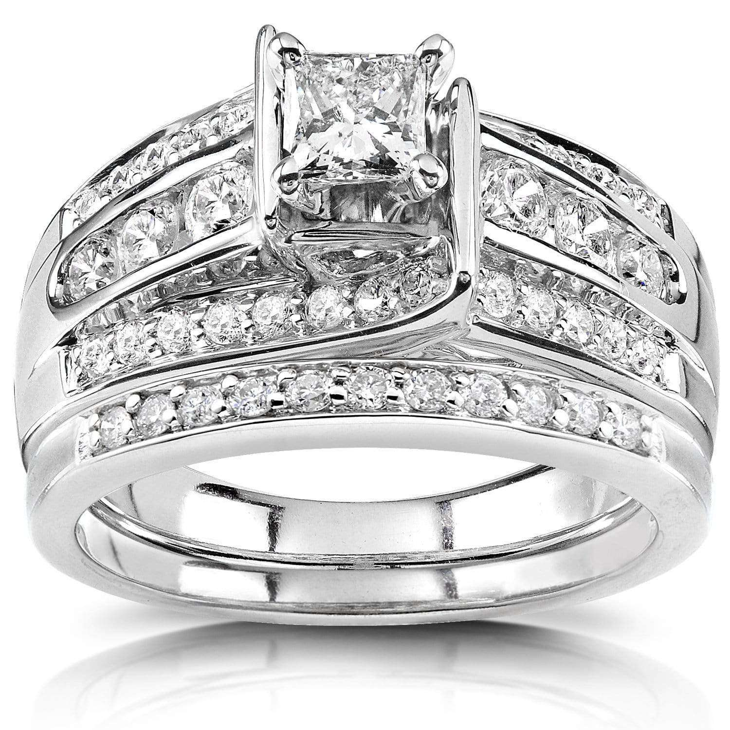 Compare Princess Diamond Bridal Set 1 CTW in Platinum - 6.5