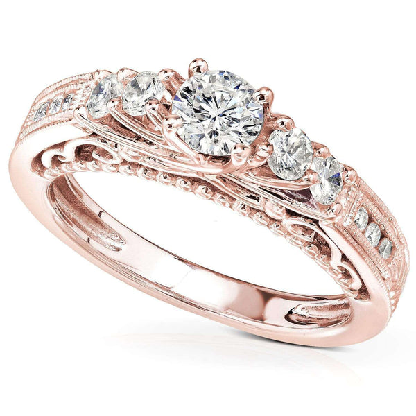 Kobelli Diamond Engagement Ring 3/4 CTW in 14K Rose Gold