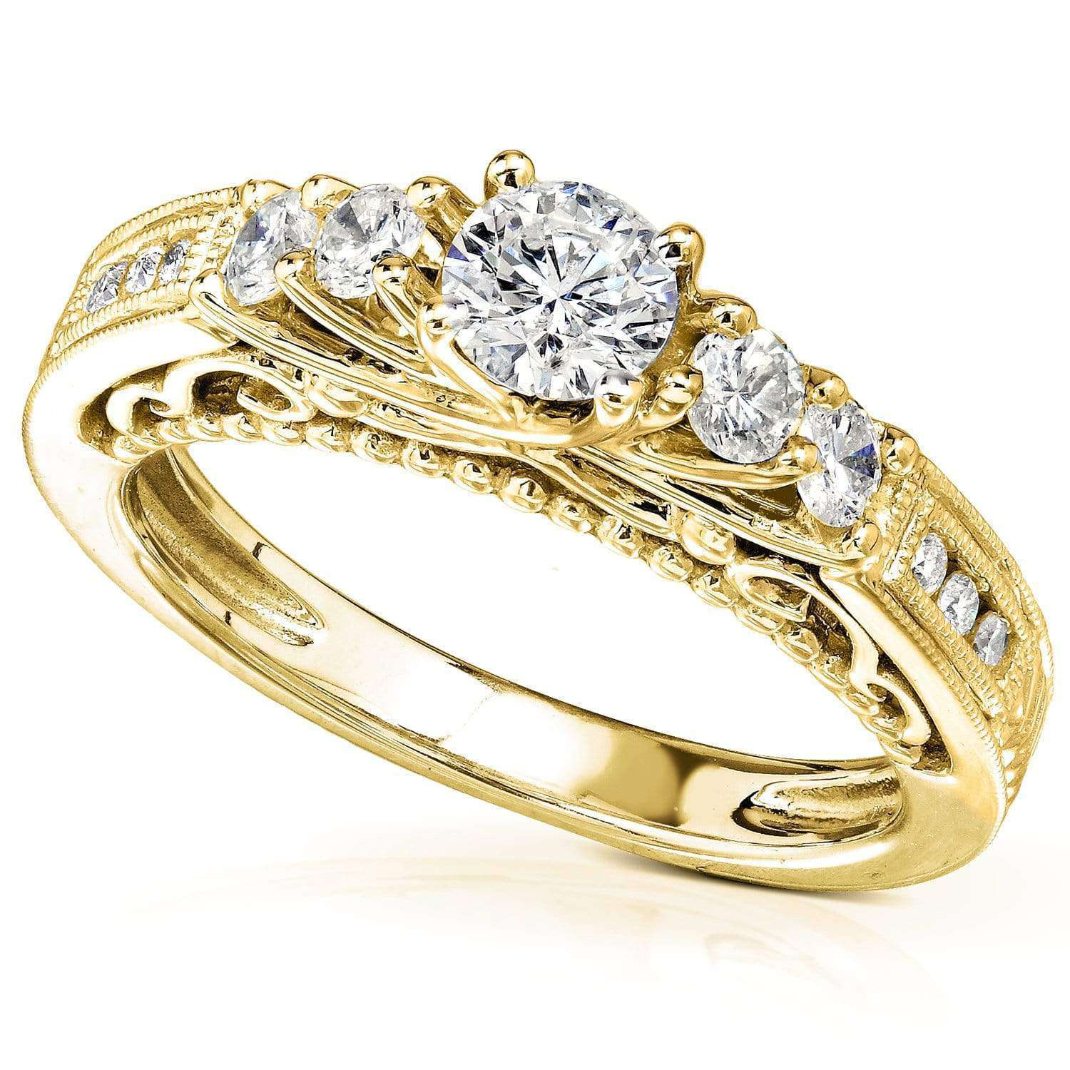 Reviews Diamond Engagement Ring 3/4 CTW in 14K Yellow Gold - 9