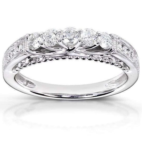Kobelli Round Diamond Wedding Band 1/2 carat (ctw) in 14K White Gold