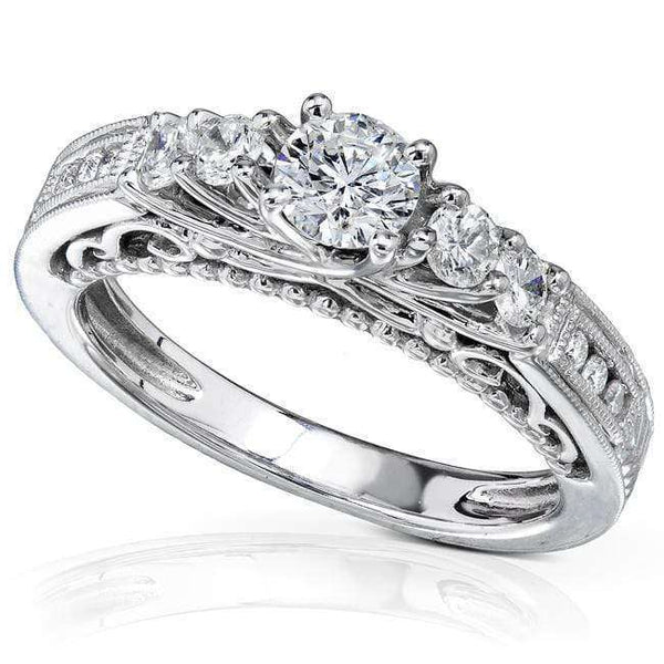 Kobelli 3/4ct.tw Five Stone Trellis Diamond Engagement Ring