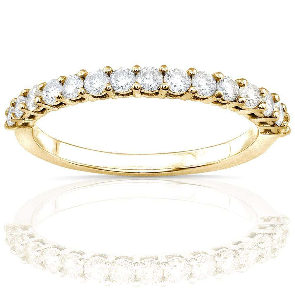 Compare Prong Semi-Eternity Diamond Band 1/2ct.tw 14kt Gold - yellow-gold 6