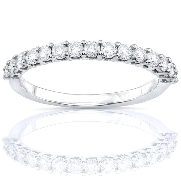 Kobelli Prong Semi-Eternity Diamond Band 1/2ct.tw Platinum
