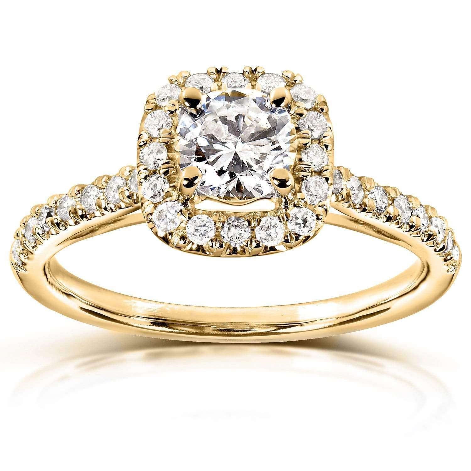 Coupons Round-Brilliant Diamond Engagement Ring 3/4 carats (ctw) in 14k Gold - yellow-gold 8.5