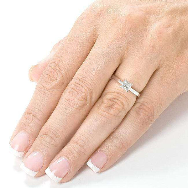 Kobelli Princess Diamond Solitaire Engagement Ring 1/2ct.tw 14K White Gold