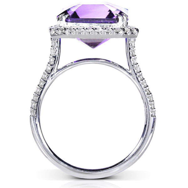 Kobelli Lavender Amethyst & Diamond Ring 6 Carat (ctw) in 10k White Gold