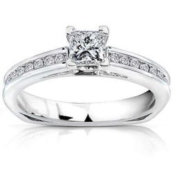 Kobelli Princess Diamond Engagement Ring 1/2 carat (ctw) in 14k White Gold