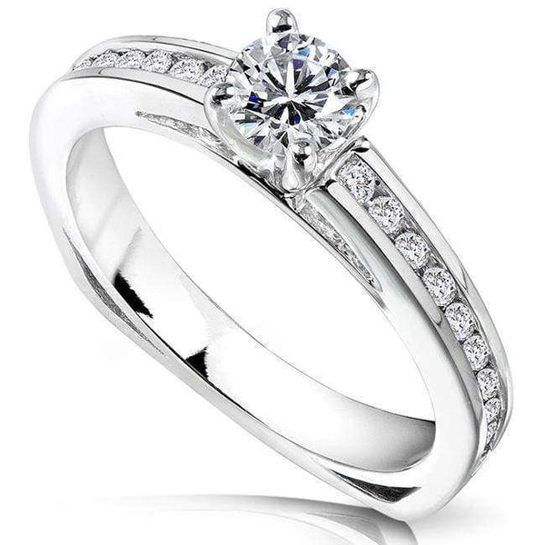 Kobelli Round Diamond Engagement Ring 1/2 carat (ctw) in 14k White Gold