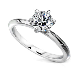 Forever One (D-F) Moissanite Solitaire Engagement Ring 1 1/2 CTW in Platinum