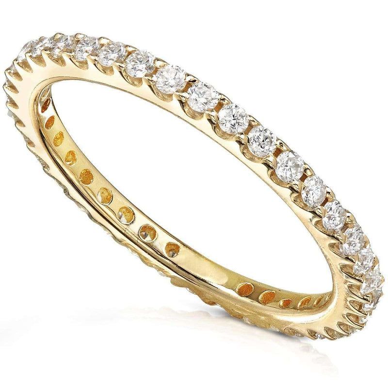 Kobelli One Half Carat Lab Grown Diamond Eternity Gold Band