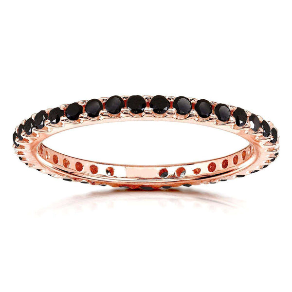 Kobelli Black Diamond Eternity Band 1/2 carat (ctw) in 14K Rose Gold