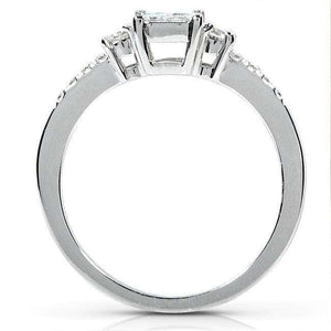 Invisible Princess Diamond Bridal Set 1/2ct.tw 14k White Gold