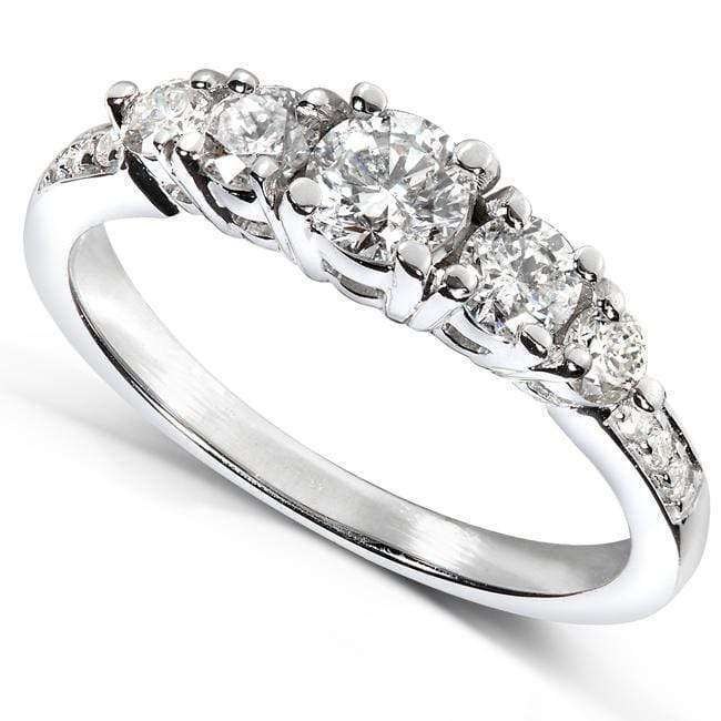 Reviews Diamond Pave Engagement Ring 3/4ct.tw 14k White Gold - 9.5