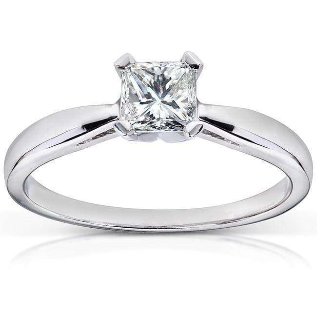 Reviews Diamond Solitaire Engagement Ring 1/2 Carat (ctw) in 14k White Gold - 5.5