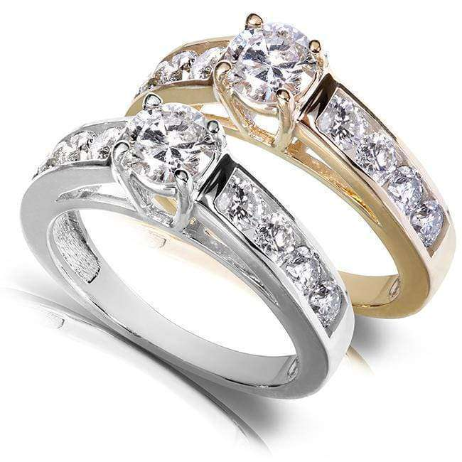 Best Round Brilliant Diamond Engagement Ring 1 1/5 Carat (ctw) in 14k Gold - yellow-gold 8.5
