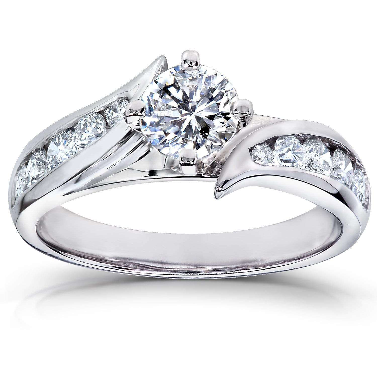 Discounts Round Diamond Engagement Ring 1 CTW in Platinum - 4.5