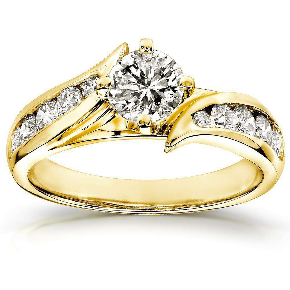 Promos Round-Brilliant Diamond Engagement Ring 1ctw 14K Yellow Gold - 4.5