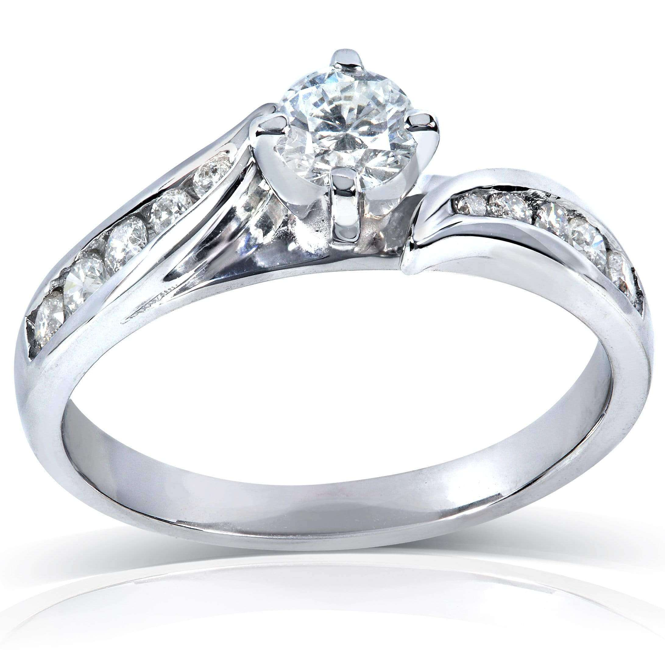 Discounts Round Brilliant Diamond Engagement Ring 3/4 carat (ctw) in 14k Gold - 4.5