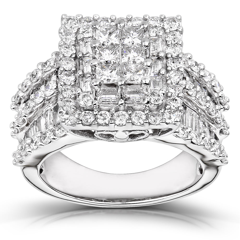 Promos Diamond Engagement Ring 2 carats (ctw) in 14K Gold - 11