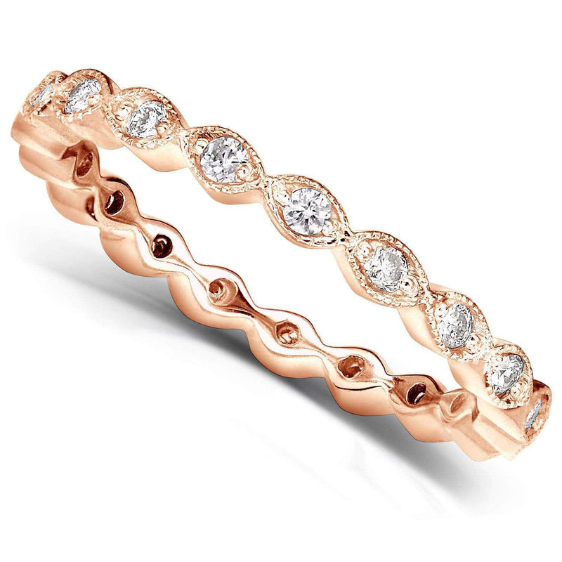 Kobelli Diamond Eternity Band 1/3 carat (ctw) in 14k Rose Gold