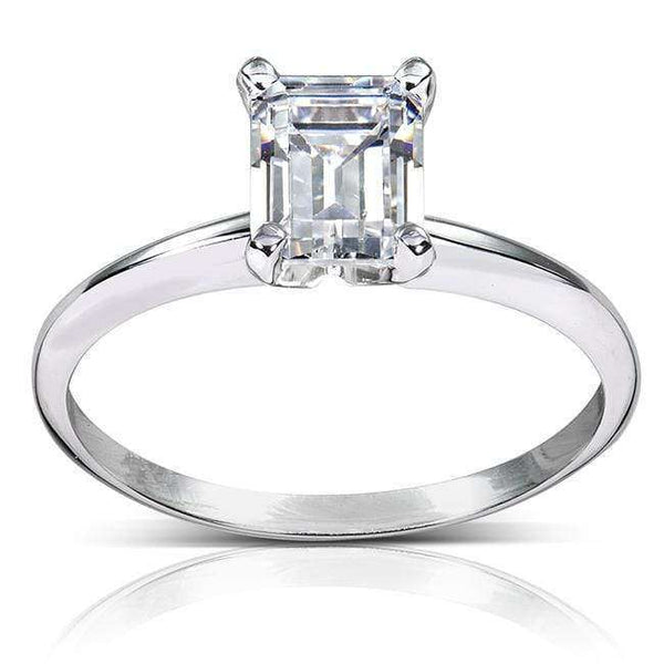 Kobelli Emerald Cut Diamond Solitaire Ring 1ct.tw 14k White Gold