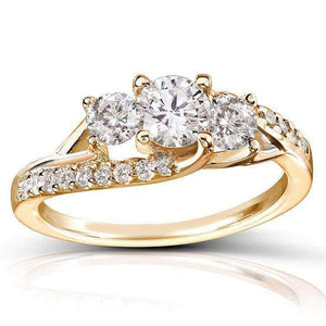 Round Diamond Engagement Ring 1 Carat (ctw) in 14k Gold