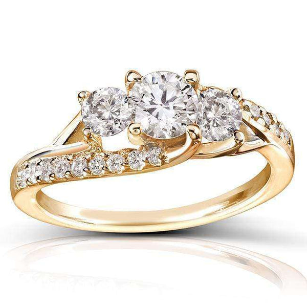 Kobelli Round Diamond Engagement Ring 1 Carat (ctw) in 14k Gold