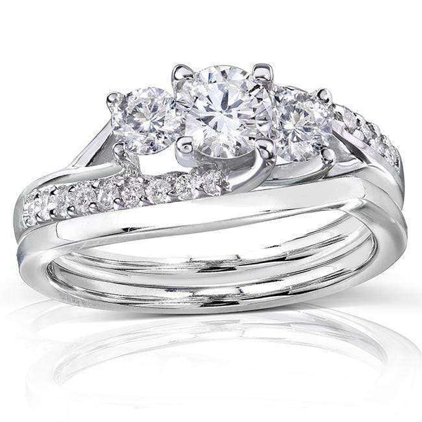 Kobelli Round Diamond Bridal Set Ring 1 Carat (ctw) in 14k Gold