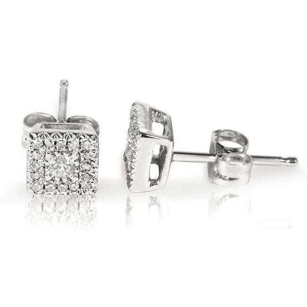 Kobelli 1/6ct.tw Square Cluster Diamond Earrings 61675