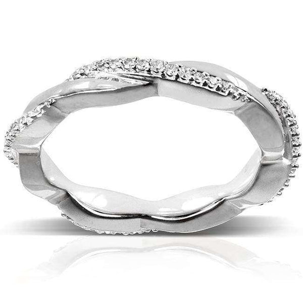 Kobelli Round Diamond Eternity Band 1/6 Carat (ctw) in 10k White Gold