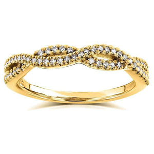 Diamond Braided Band 14k Yellow Gold