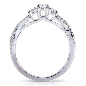 Diamond Bridal Set 3/4 Carat (ctw) in 14k White Gold (3 Piece Set)