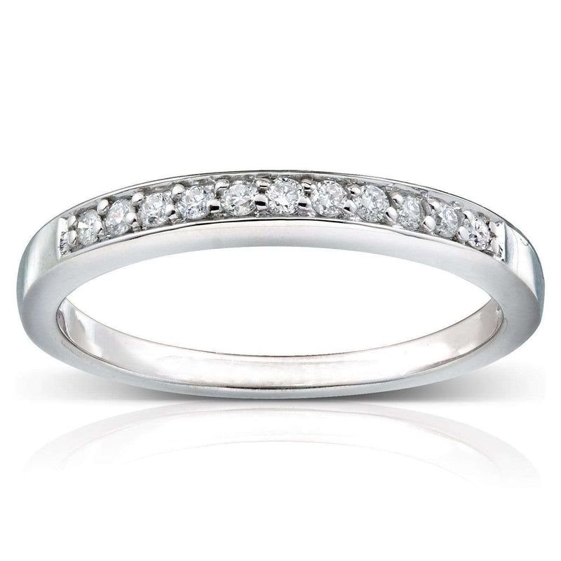 Kobelli Round Diamond Band 1/10 CTW in 14k White Gold
