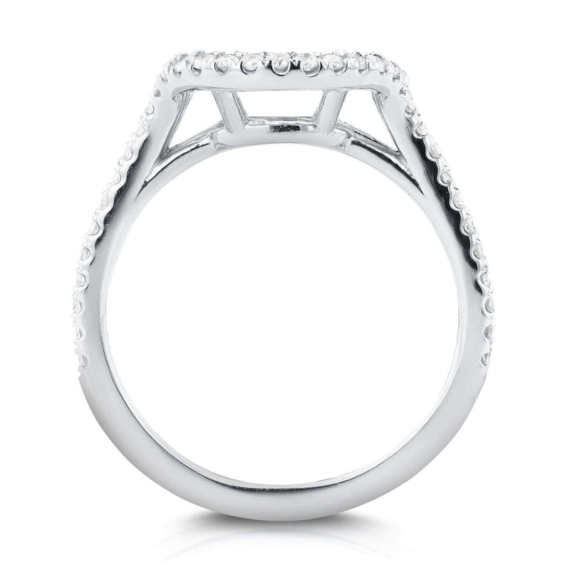 Kobelli Contoured Round Diamond Wedding Band 1/5 CTW in 14k White Gold