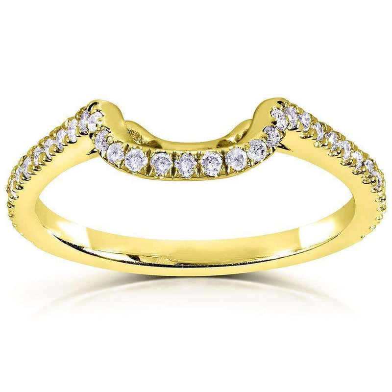 Kobelli Lab Grown Diamond Contour Shadow Wedding Band 1/4 CTW 14k Gold (DEF/VS) LG61765D/4Y